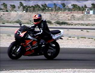 Me on my new 900RR at a track day May 13th 2001- this is a horseshoe turn ( 8)