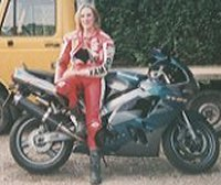 Lucie and a ZX9R